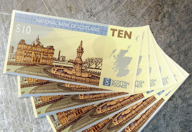 Scottish pound notes, ones which they could use when Scottish independence is achieved.
