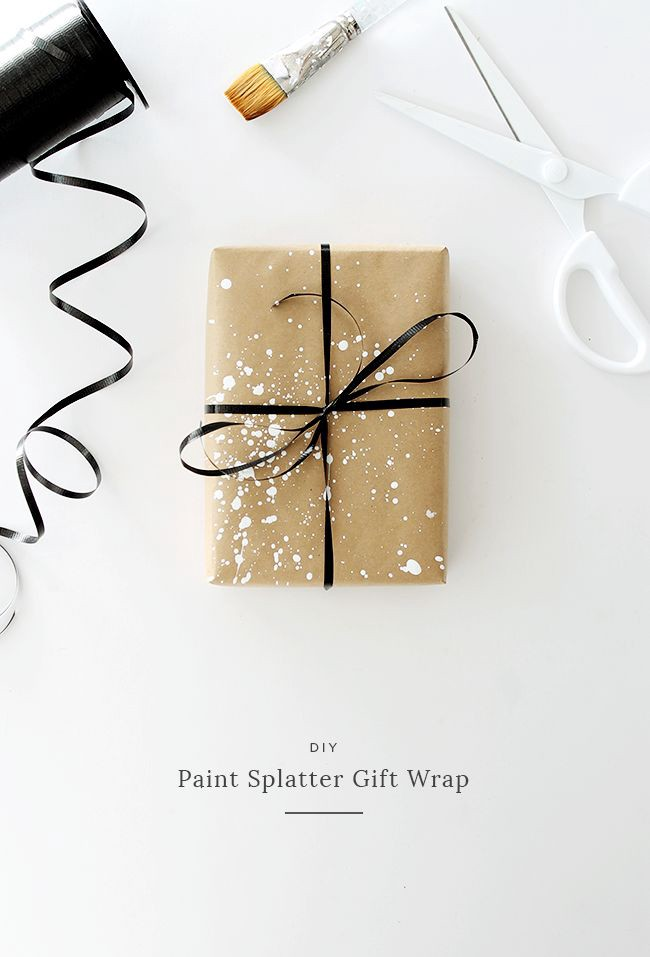 i love simple gift wrap, and i love a simple kraft paper gift wrap — but i wan...