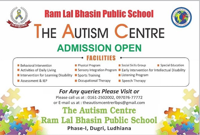 the autism centre in ludhiana by neha bhasin madhok at ram lal bhasin public school ludhiana