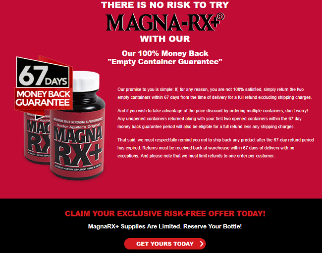 Payment Plans Magna RX  Male Enhancement Pills