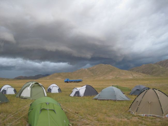 Ominous Clouds—Hope your tents are waterproof!