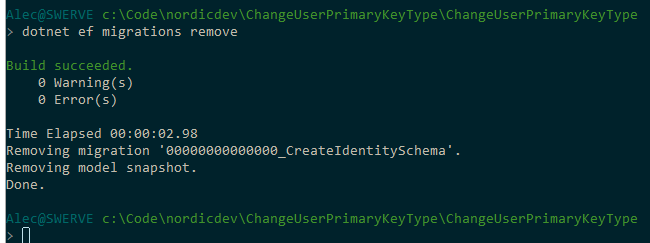 Changing the primary key type of ApplicationUser in ASP NET