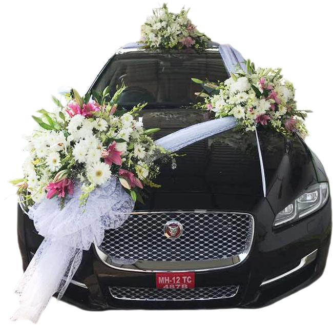 Decorate Your Wedding Car With Fresh Flowers Blooms Only By Blooms Only Medium