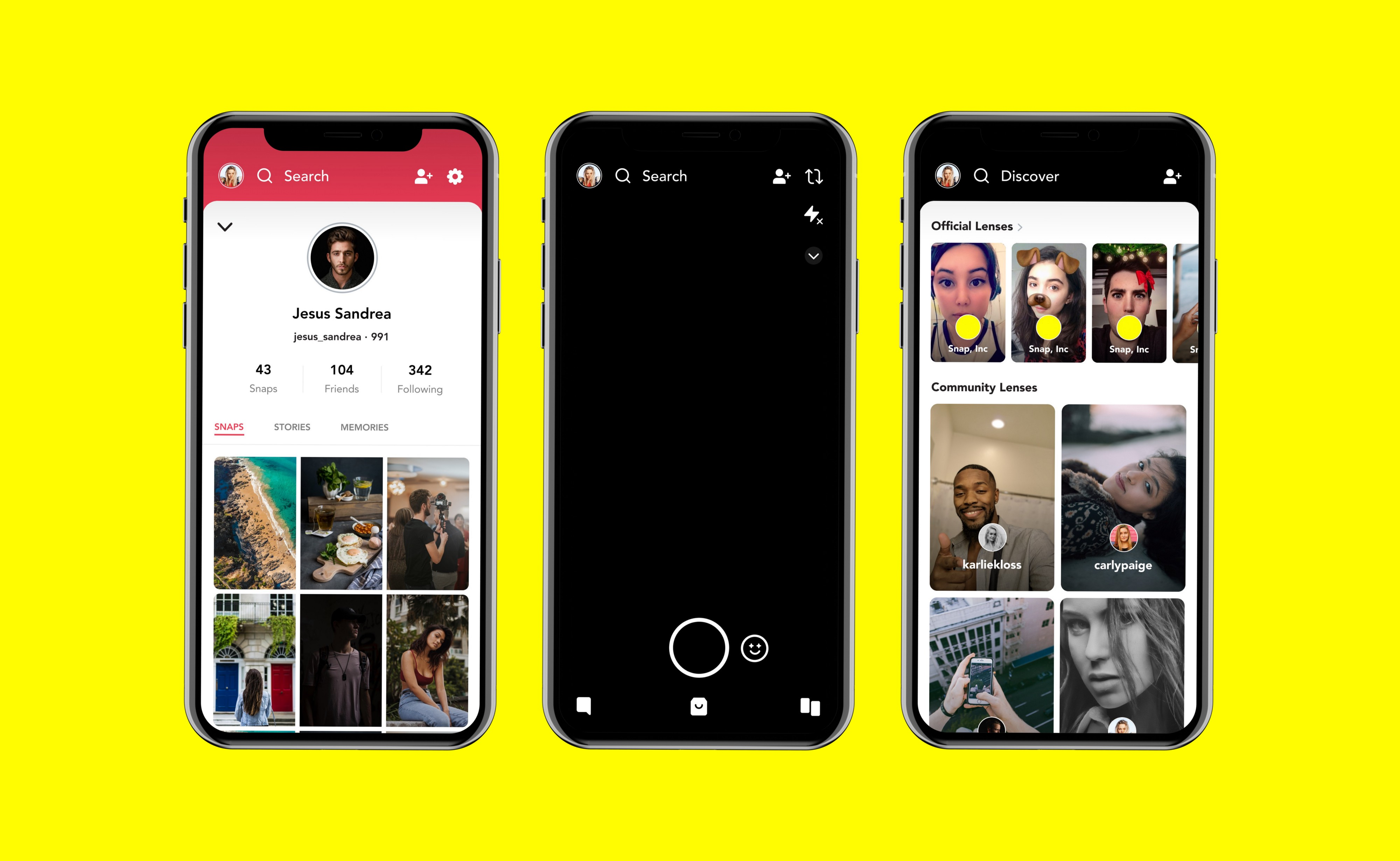 An image of Snapchat, an alternative to Telegram.