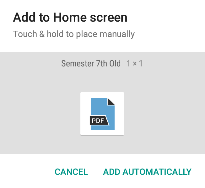 Using PDF Pinner To Pin PDFs to Android Home Screen