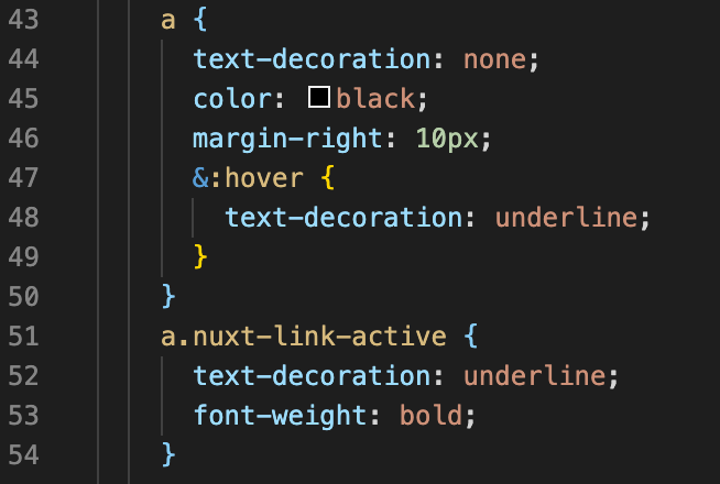 Add style when a nuxt-link is active