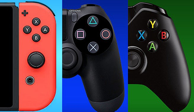 Switch, Dualshock, and Xbox Controllers