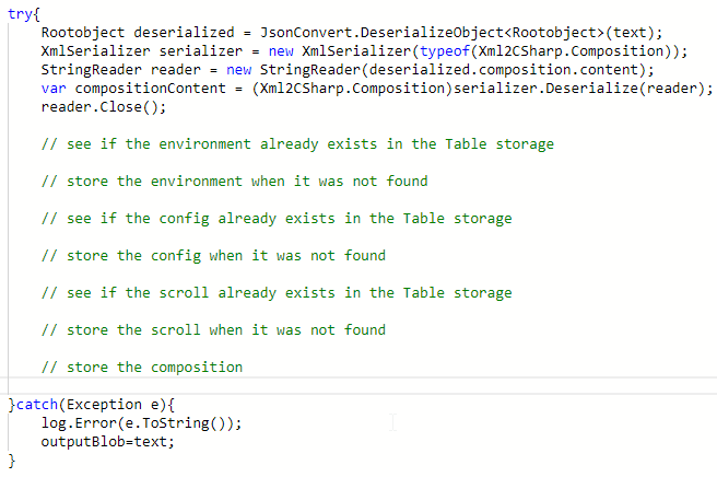 configuring the table storage and basic design — ikcomponeer