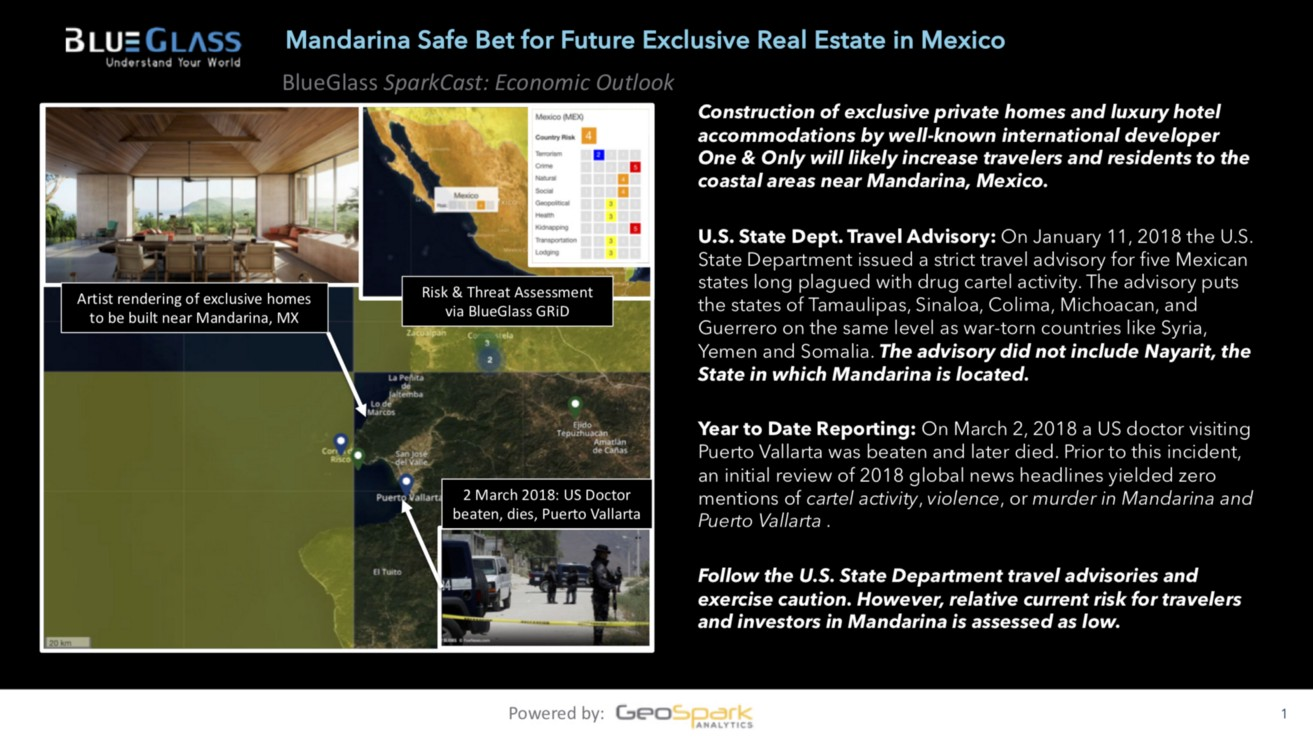 BlueGlass Travel and Safety Outlook: Mexico - Geospark Analytics