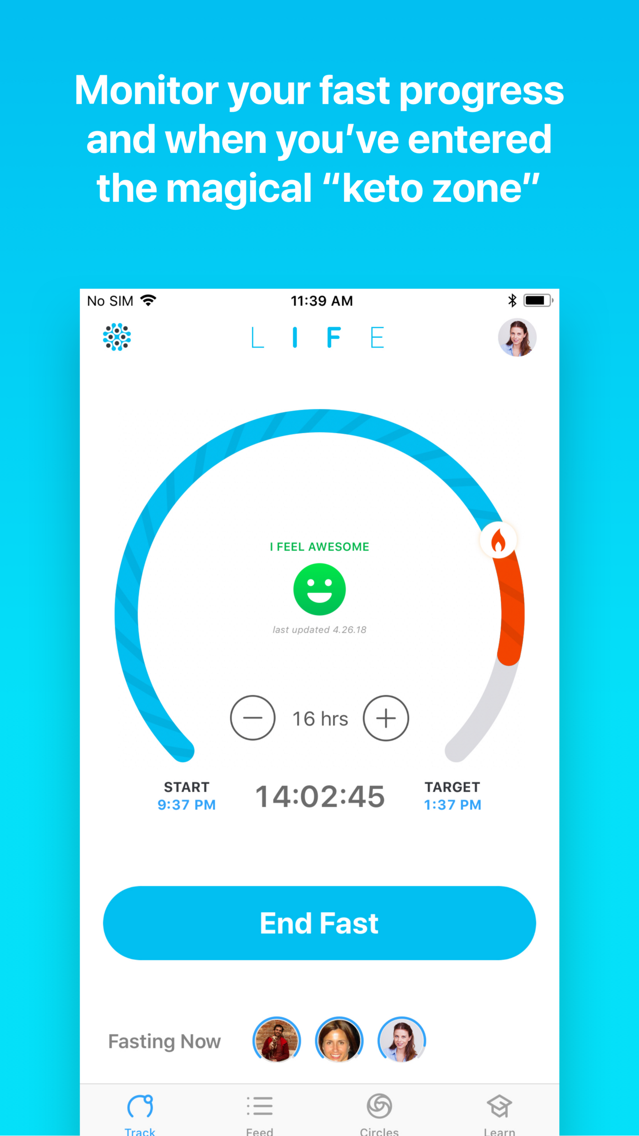 Seize Life Fast  LifeOmic Releases LIFE Fasting Tracker App