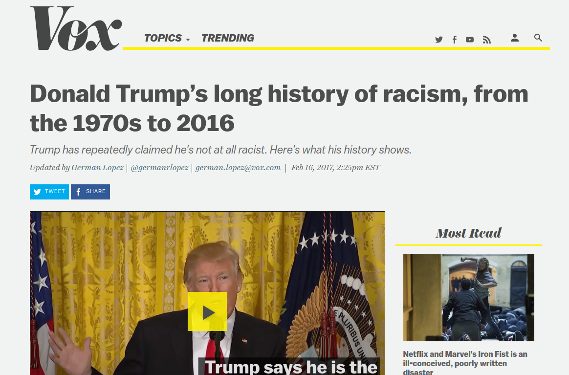 Racism made Trump President but not in the way you think