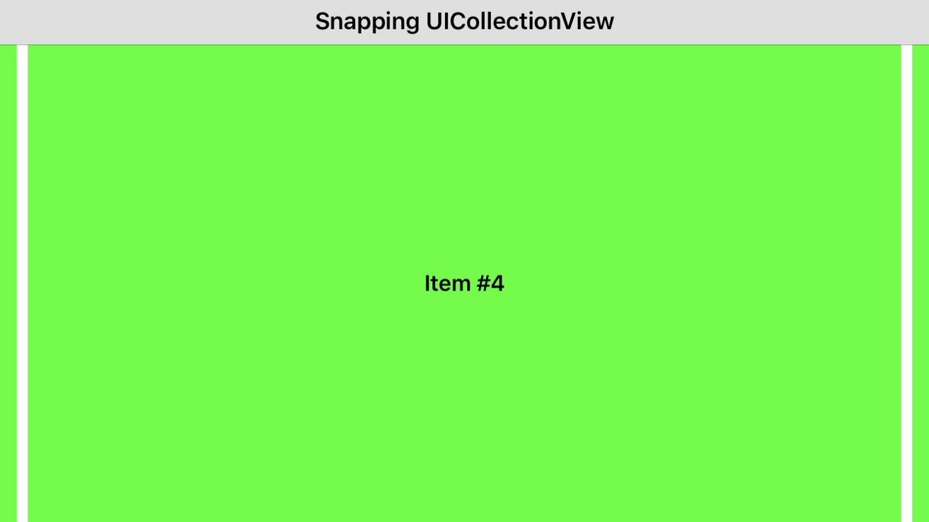 Snapping UICollectionView in Xamarin iOS - Pavel Sulimau - Medium