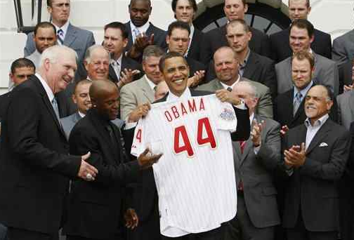 Still Hoping That President Obama >> Obama Hoping It S Okay If He Throws Out The Personalized Phillies