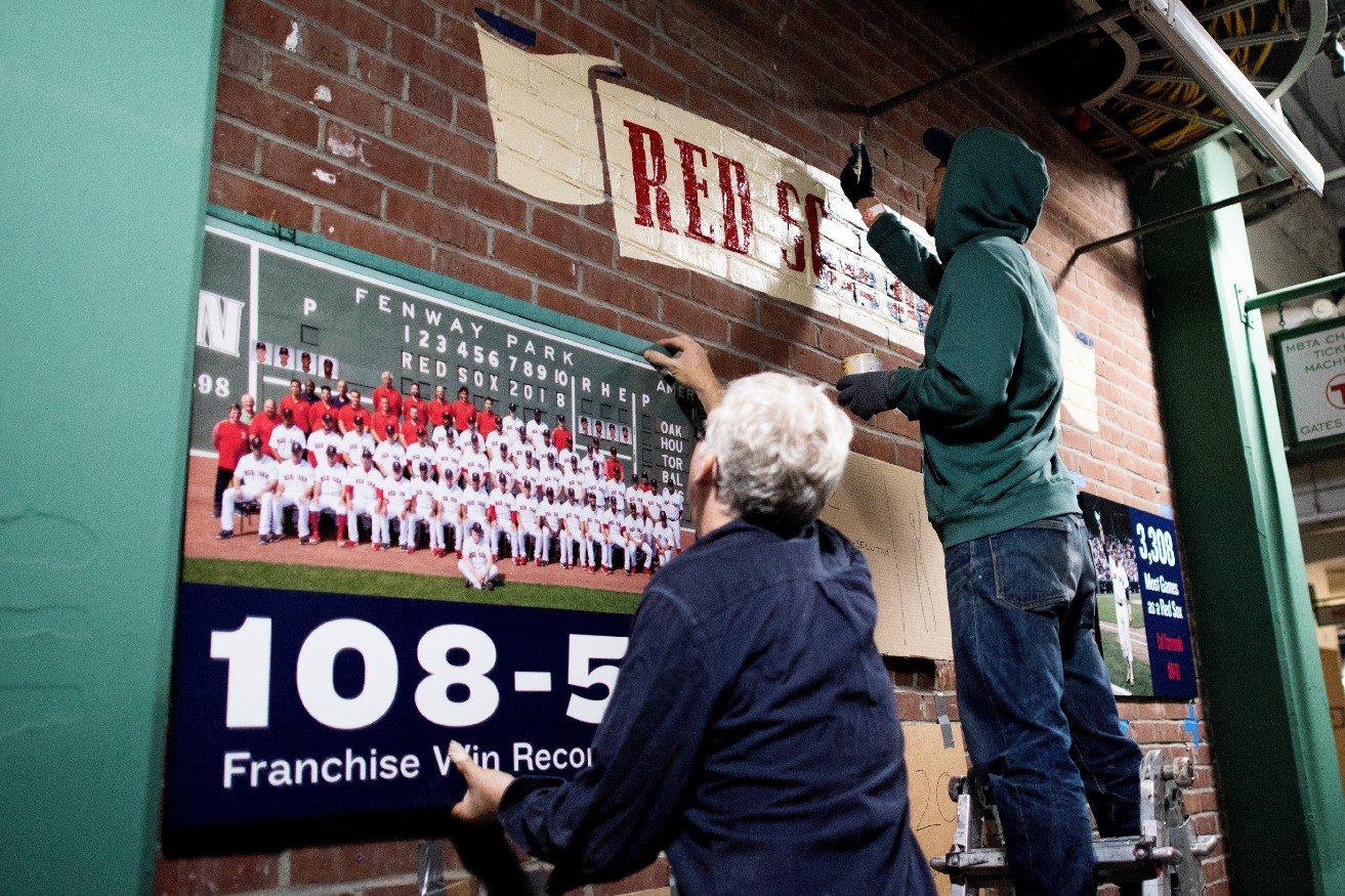Red Sox hold ALDS workouts - Fenway Frames