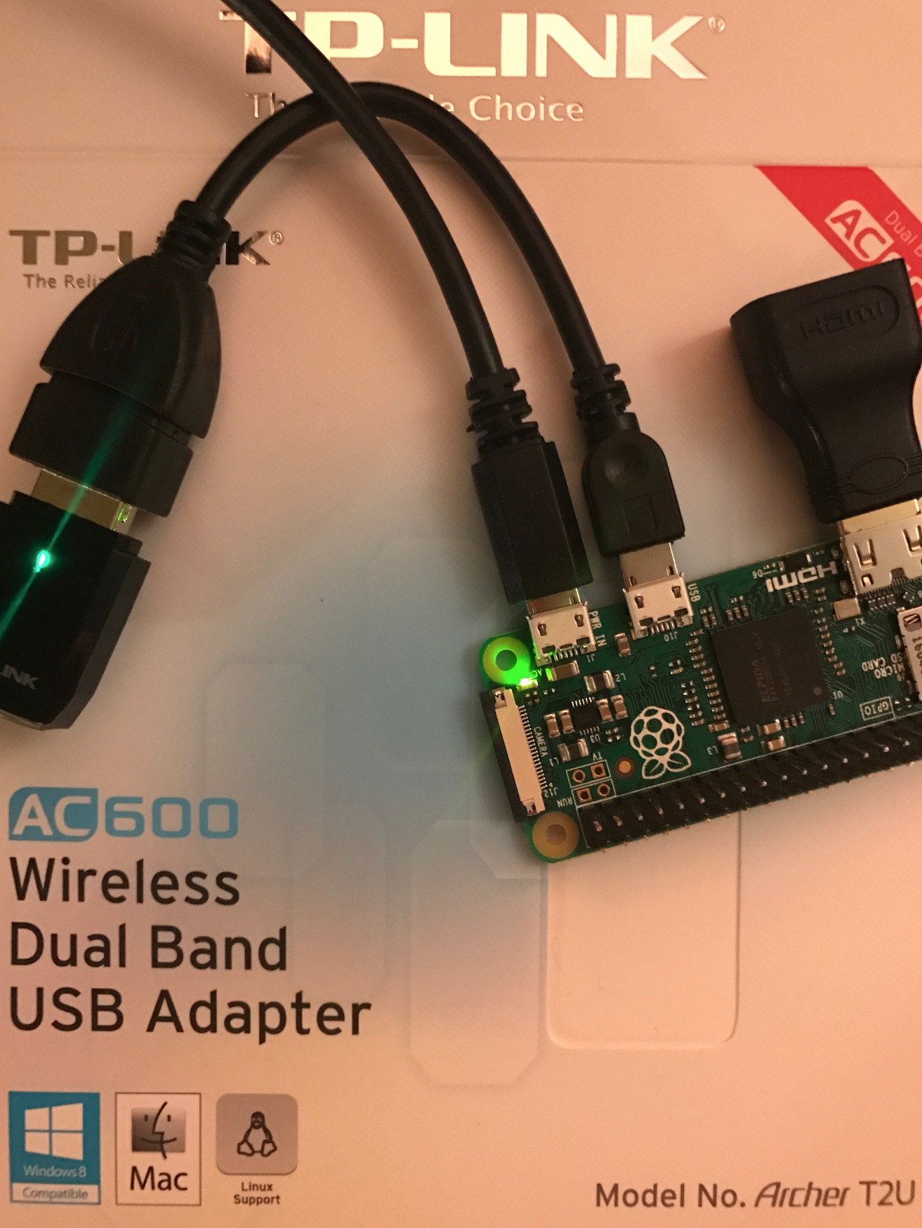 Raspberry Pi Zero Wi-Fi USB Adapter Installation: TP-Link Archer T2U