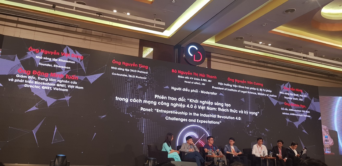 Vitalik Buterin had a speech at CDAD 2018 on 16th September in Hanoi