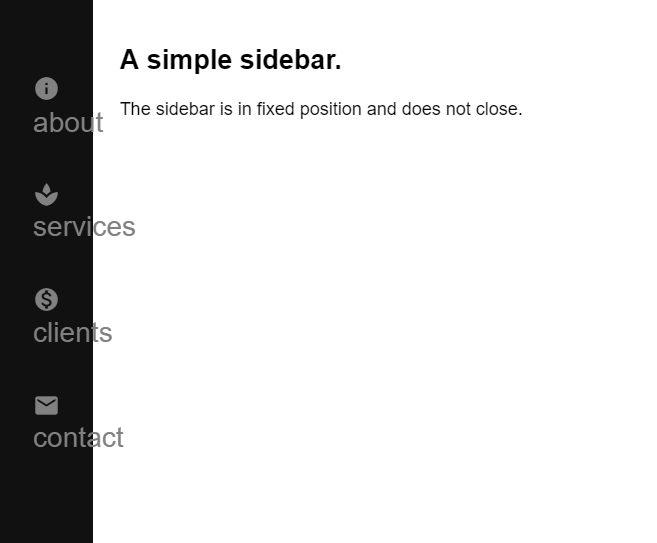 Create a beautiful hover-triggered expandable sidebar with simple