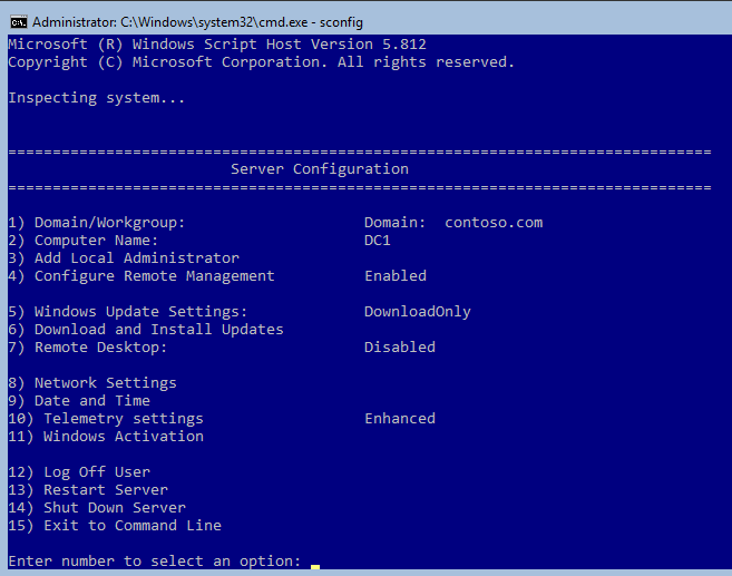 How to build a server 2016 domain controller (Non-GUI) and