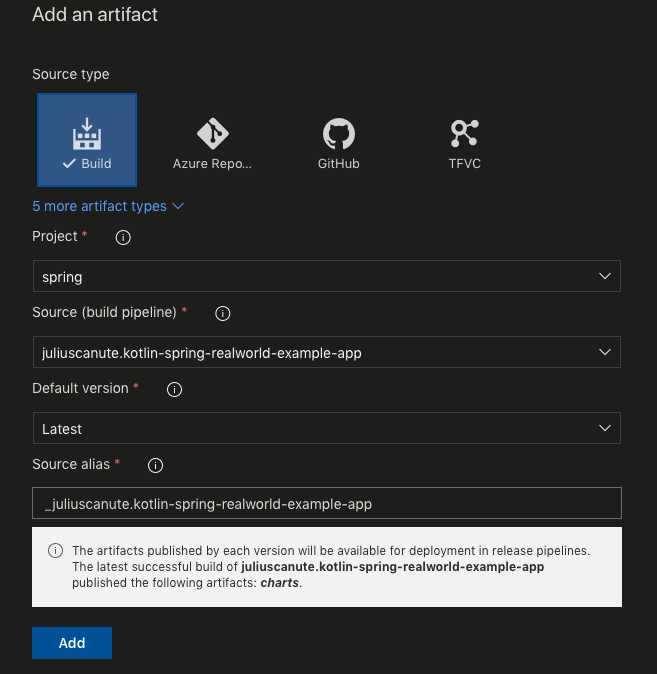 Build and Deploy Spring Boot Web Service using Azure DevOps
