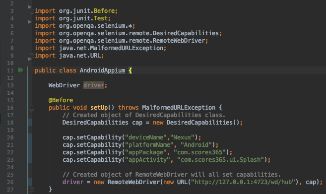 How to create your first Android Automated test   Selenium