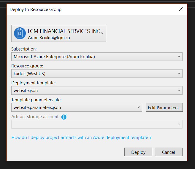 Build and Manage your Azure ARM templates in Visual Studio