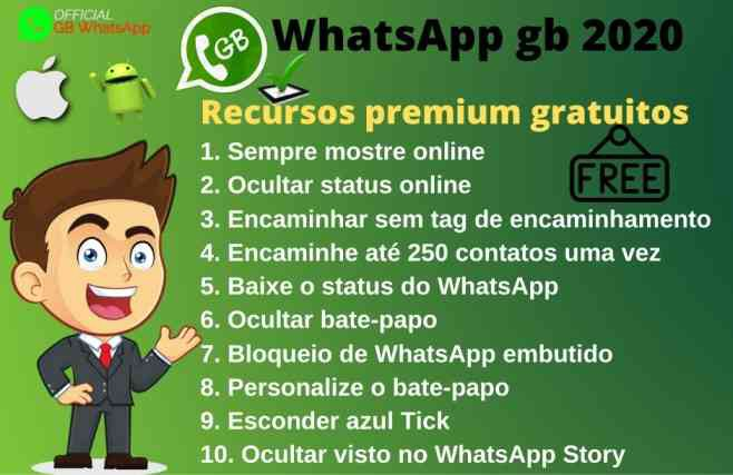whatsapp gb features in portuguese language