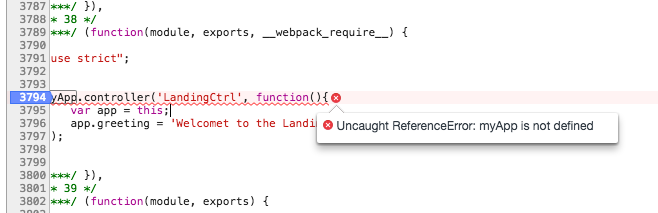 Using Webpack with legacy Angular SPAs: Exposing global variables to