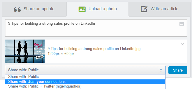 9 Tips for building a strong sales profile on LinkedIn
