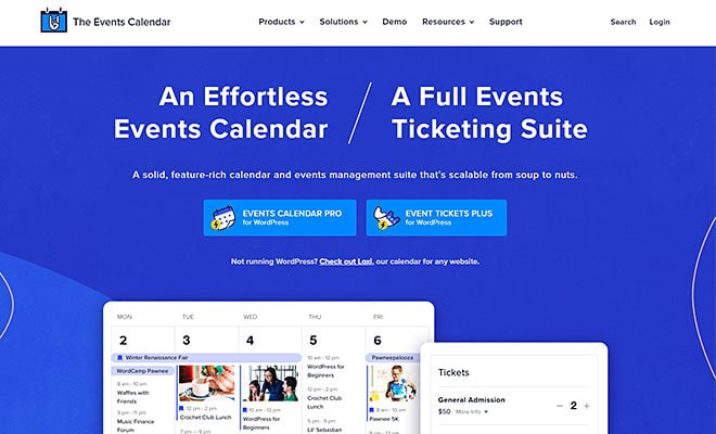 The Events Calendar | Best WordPress Event Calendar Plugin