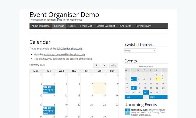 Event Organiser | Best WordPress Event Calendar Plugin