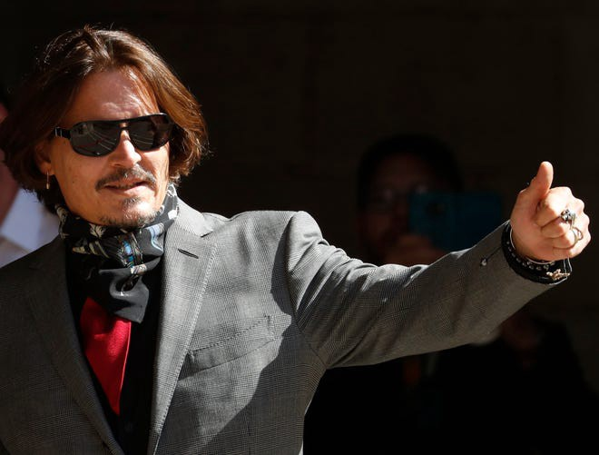 Johnny Depp outside court in the United Kingdom 2020