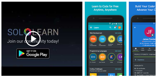 The Best Android Apps For Learning How To Code By John Selawsky Better Programming Medium