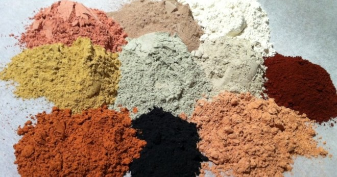 Different types of clay.