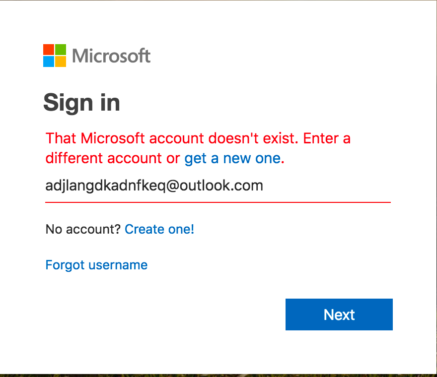 Signing in with Microsoft