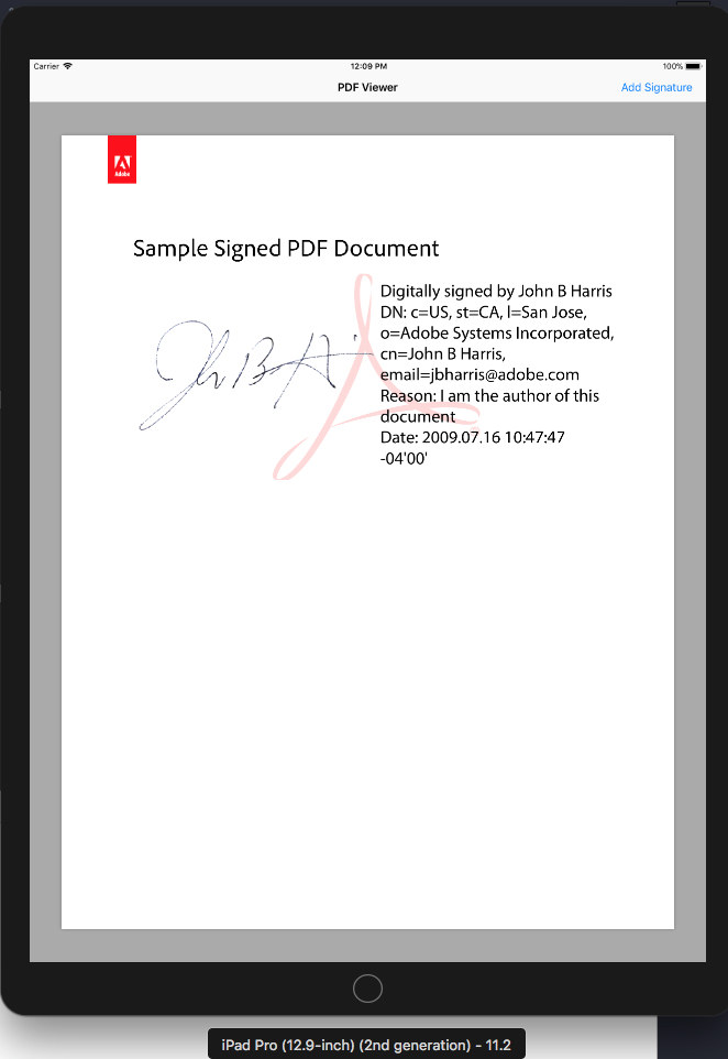 Add a Signature to PDF using PDFKit with Swift - Rajée Jones - Medium