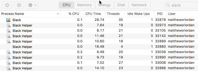 Where's all my CPU and memory gone? The answer: Slack