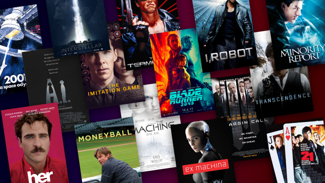 AI in movies tells stories of science fiction and futuristic worlds.