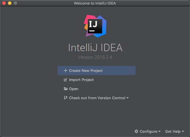 IntelliJ IDEA launch dialog