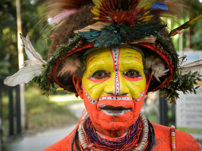 An image of a New Guinea indigenous person.
