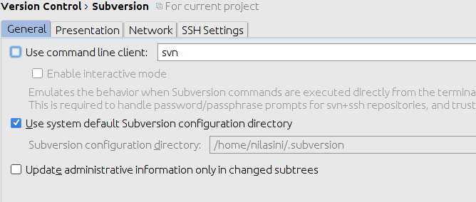 Use subversion in Intellij without a SVN client - Nilasini