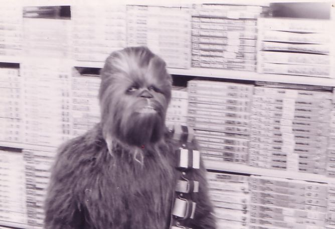 Chewbacca: Star Wars Visits Toy's R Us In Torrance, CA, Fall 1977