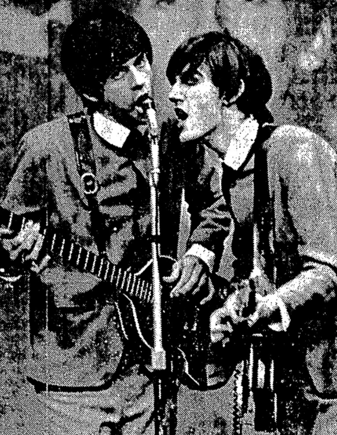 Trevor Eve as Paul McCartney and Phillip Joseph as George Harrison in John, Paul, George, Ringo…and Bert.