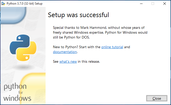 How to install python 3 7 on windows 10 PC , The non