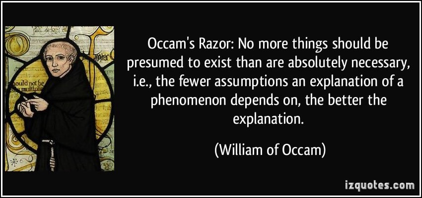 Image result for occam's razor