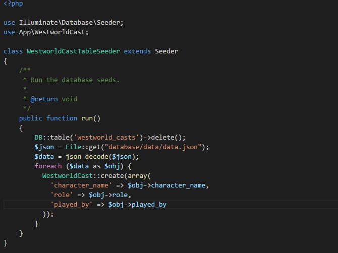 Seed me some JSON Data — How Laravel makes everything a