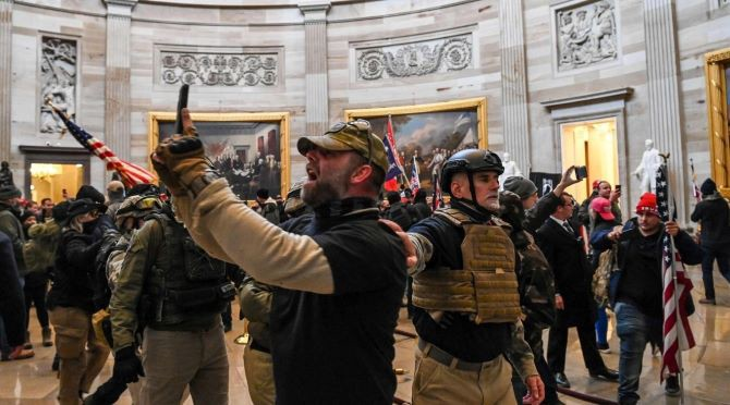 Privileged Tourist-Protesters Take Pictures During Historic Vote