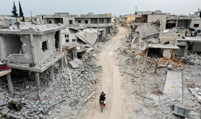 Syria in ruins from destructive bombings and air raids
