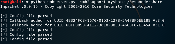 Capturing hashes with hidden folders, lnk files and smbserver by @_