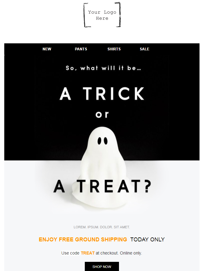 Halloween Email Campaign - Trick or Treat