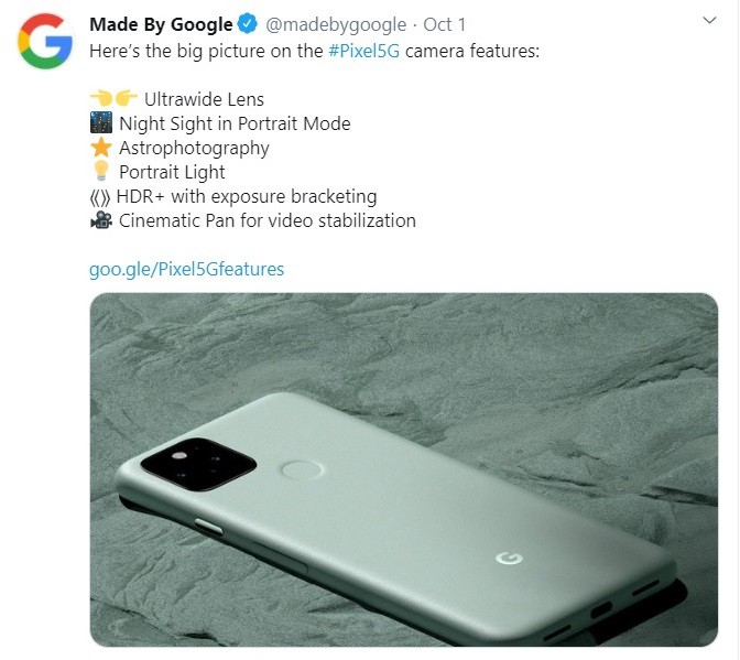 How to avoid brand failure — Google Pixel 5G Twitter feed about the phone's camera features
